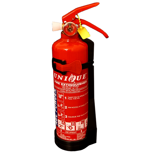 UNIQUE 1kg ABC Dry Powder Portable Fire Extinguisher