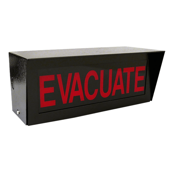 D-110L Demco Evacuate/Gas Discharge Sign LED