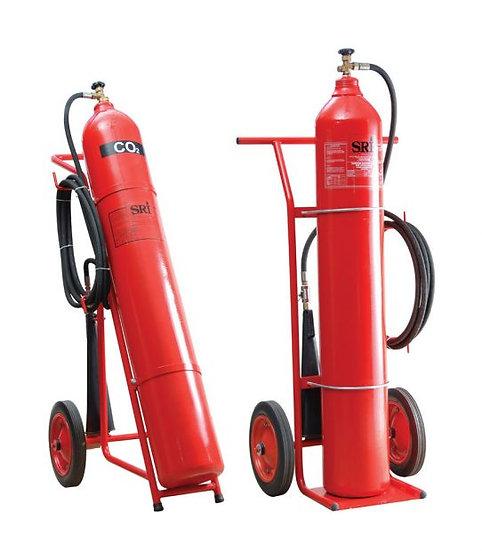 SRI 32kg Trolley Carbon Dioxide Fire Extinguisher