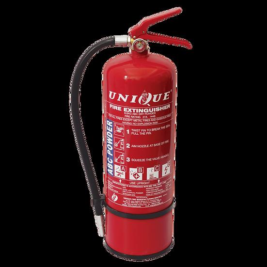 UNIQUE 9kg ABC Dry Powder Portable Fire Extinguisher