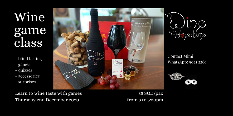 Wine Game afternoon (in English)