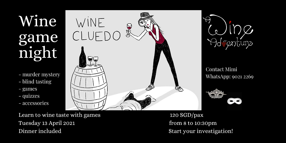 Wine Cluedo (in English / French) - 13 Avril 2021