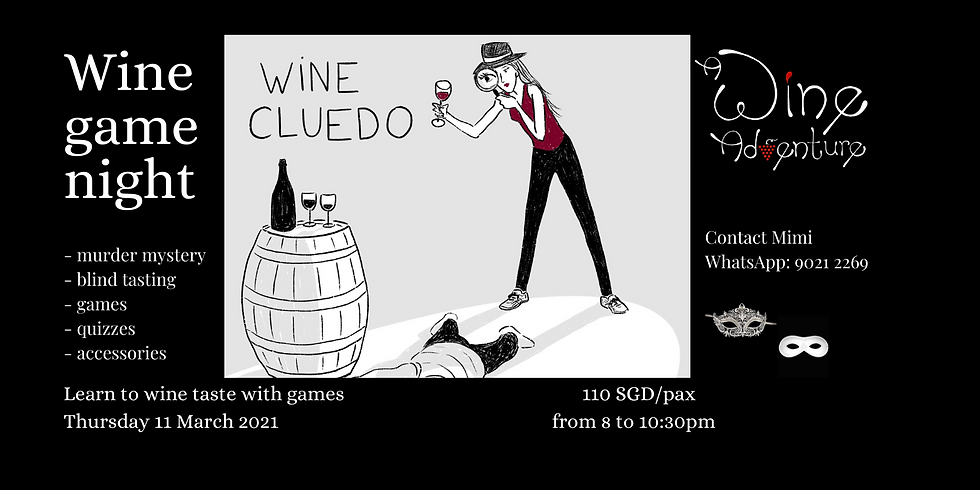 Wine Cluedo (in English) - 11 March 2021