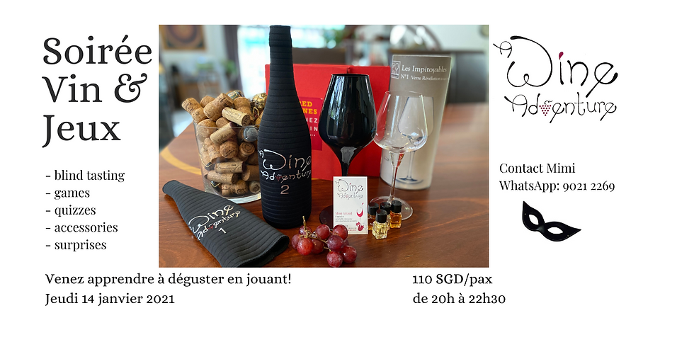 Wine Game night (in French) - 14 Janvier 2021