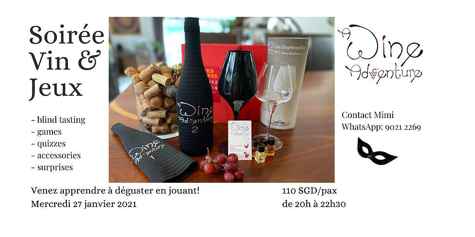 Wine Game night (in French) - 27 January 2021
