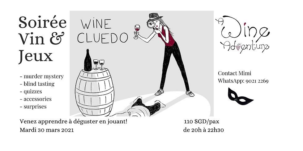 Wine Cluedo (in French) - 30 March 2021