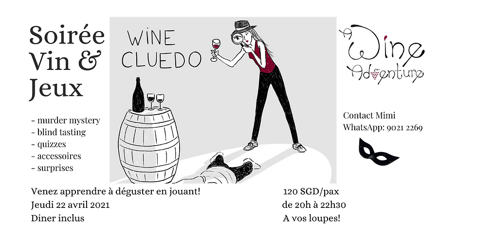 Wine Cluedo (in French) - 22 Avril 2021