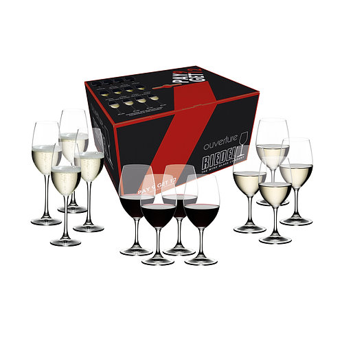 Riedel Ouverture Value Pack Magnum + Tasting + Champagne Wine Glasses