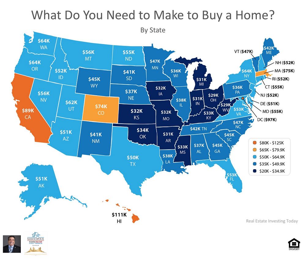 US Map --Household Income