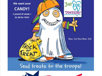Donate extra Halloween candy to troops