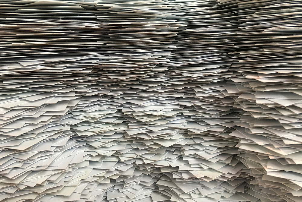 Piles of stylized paper