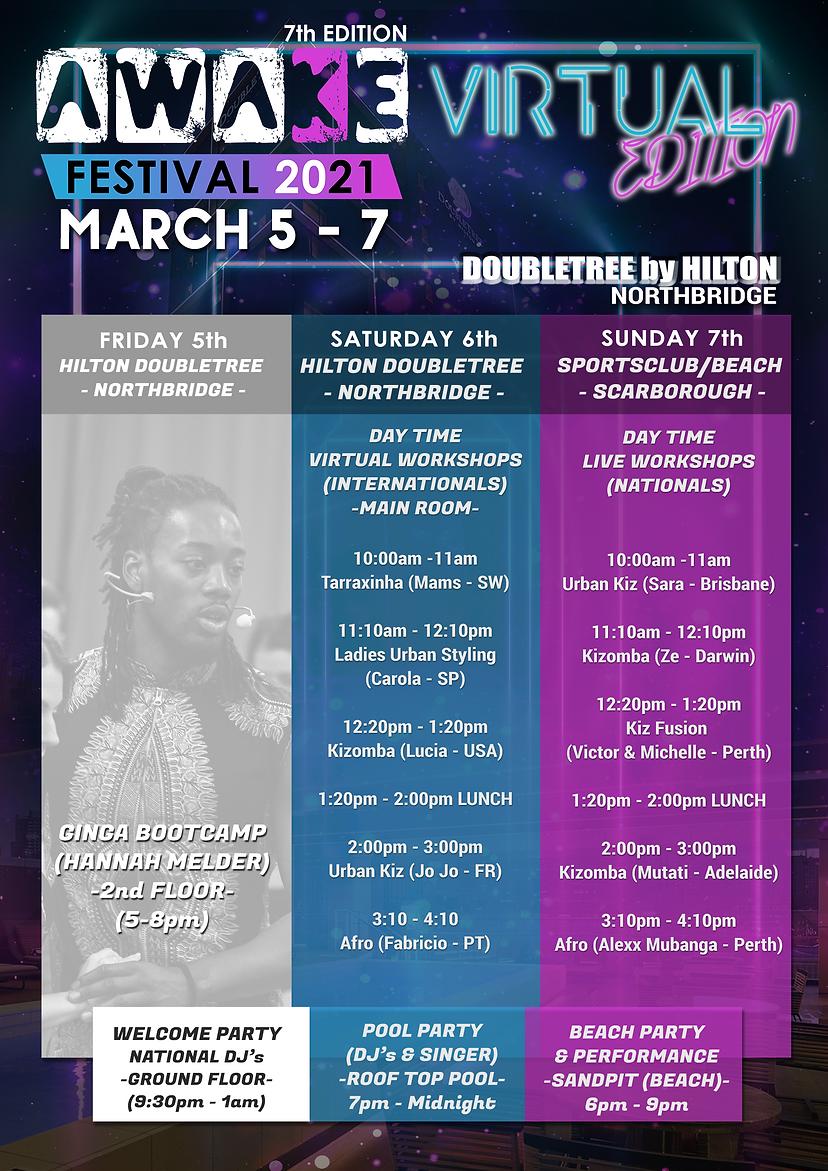 AWAKE 2021 Workshop Schedule