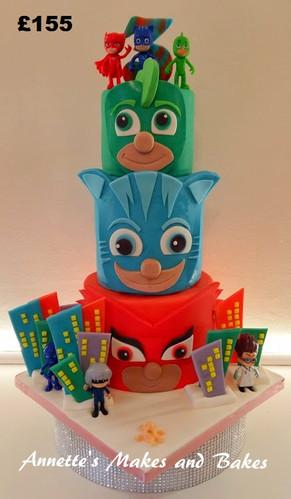 3 tier PJ Masks cake.jpg