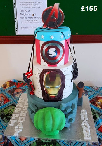 Boys Marvel themed birthday cake.jpg