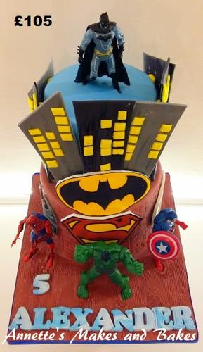 Batman and Super Hero Cake.jpg