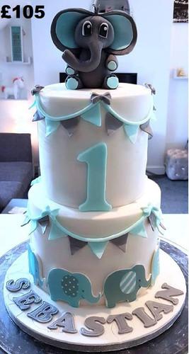 Blue and grey boys 1st birthday cake.jpg