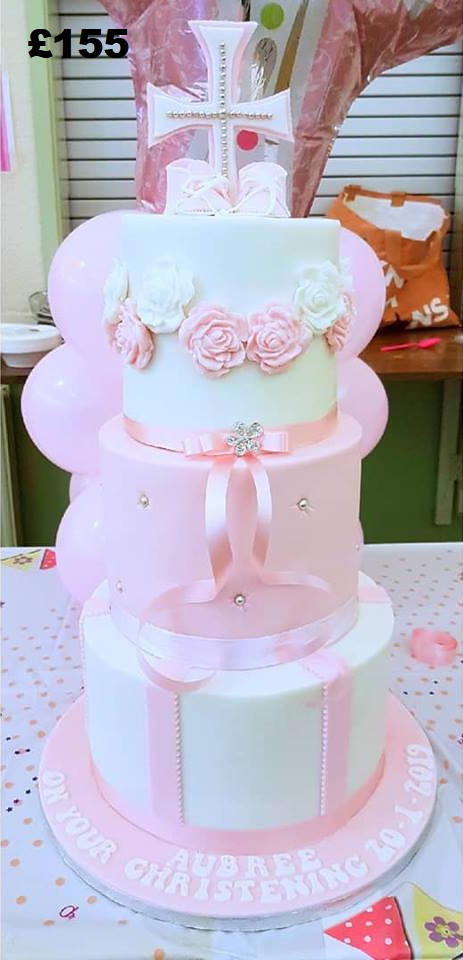 3 tier Christening cake with roses.jpg