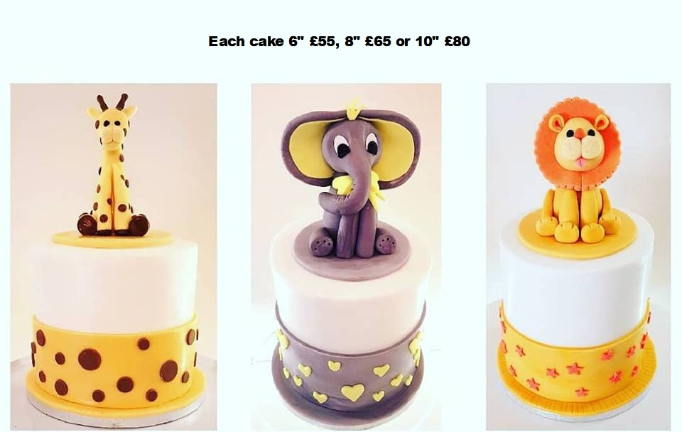 Animal Baby Shower cakes.jpg