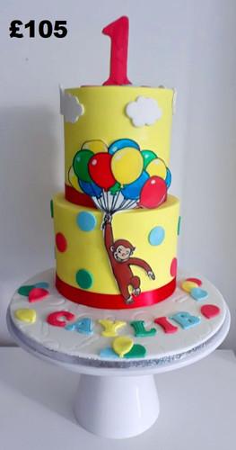 Curious George the monkey 1st birthday c