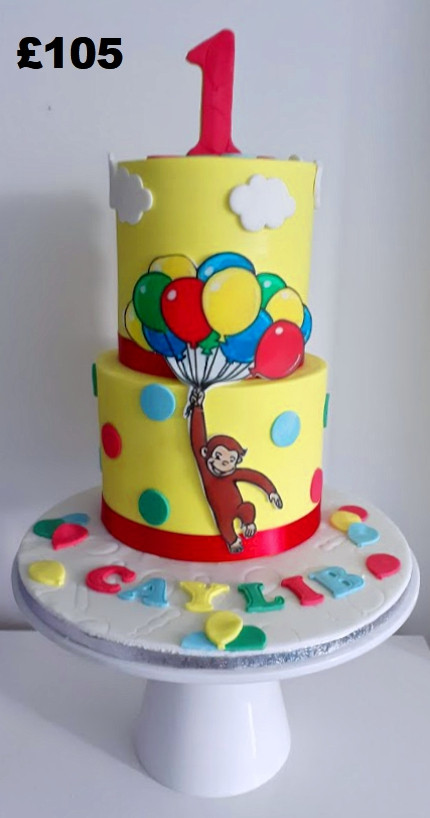 Curious George the monkey 1st birthday c