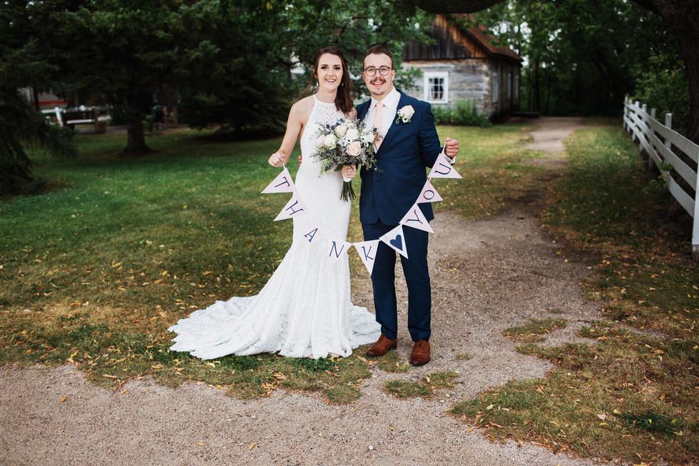Rainy, August Wedding at Ashgrove Acres, Manitoba.
