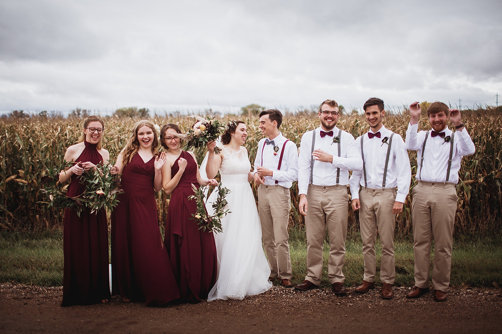 Fall, canadian bridal party inspiration.