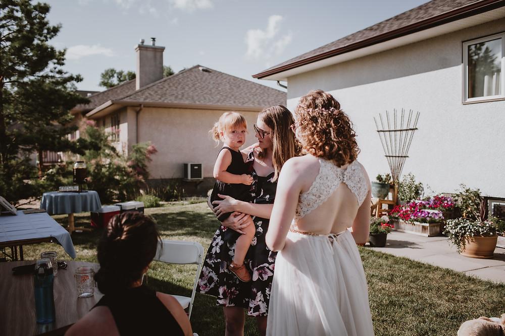 Candids of flower girl, post wedding.