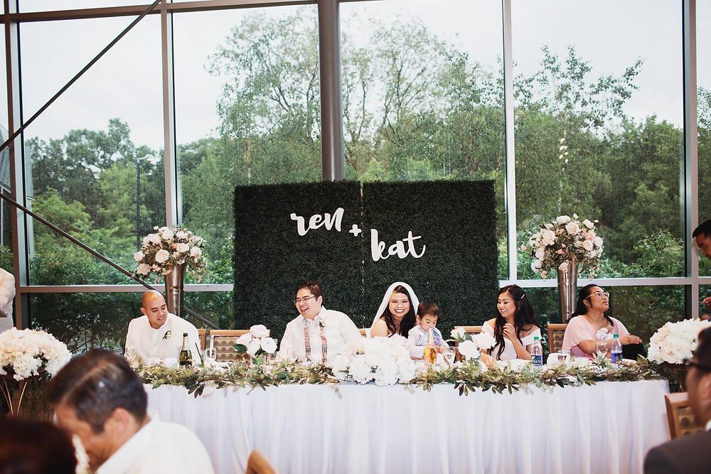 Manitoba wedding reception at the Qualico Family Center in Assiniboine Park.