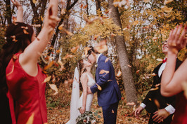 Wedding Couple Kisses
