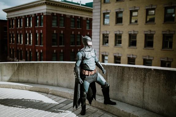Batman in the daylight