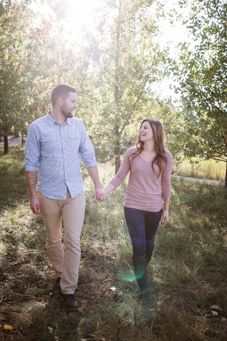 Sunny Fall Engagement Session