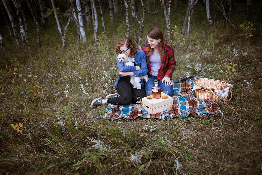 Assiniboine Forest fall engagement session.