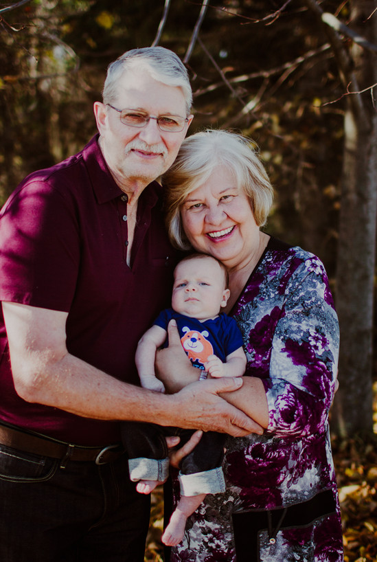 Grand Parents With Baby Jack