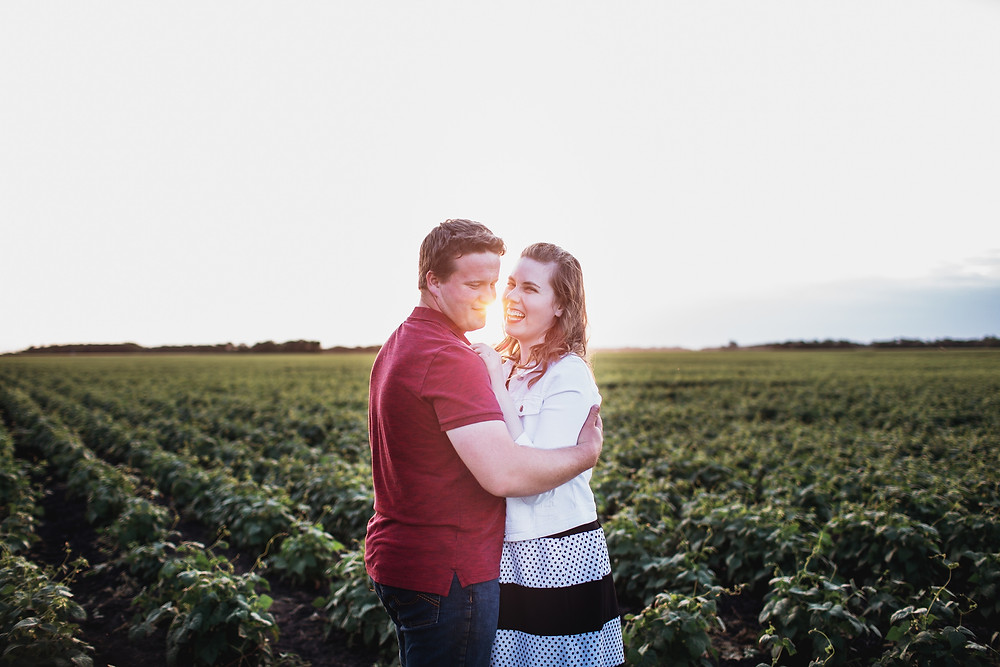 Farm engagement photoshoot in Portage La Prairie.