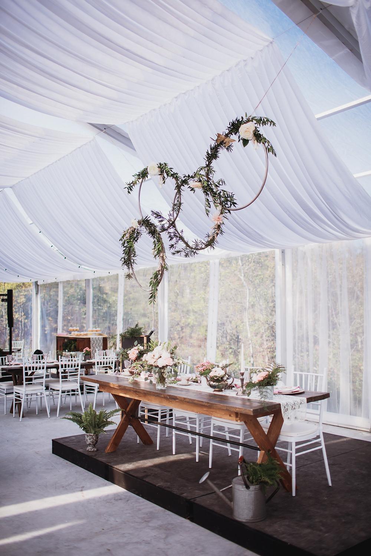 Wedding head table decor by  Geek Chic Decor