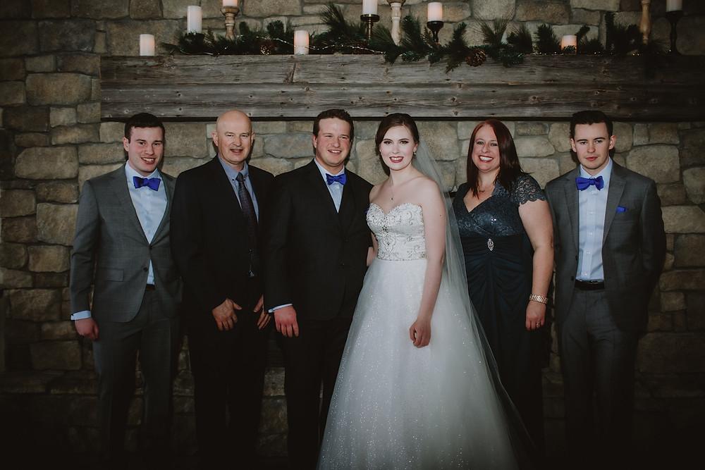 Family wedding day portraits at Hawthorne Estates.