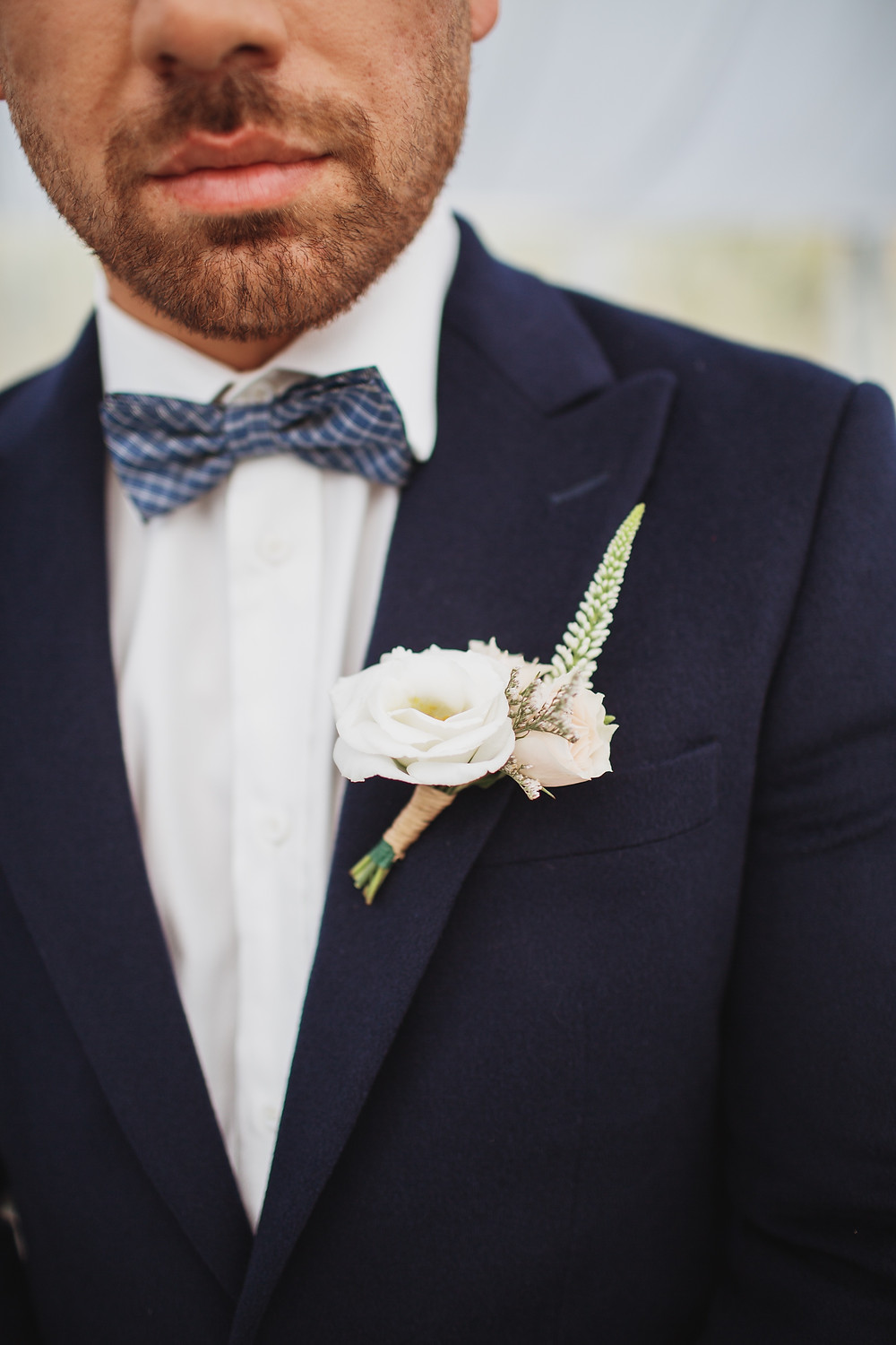 Grooms boutonniere by Yellow Birch Floral