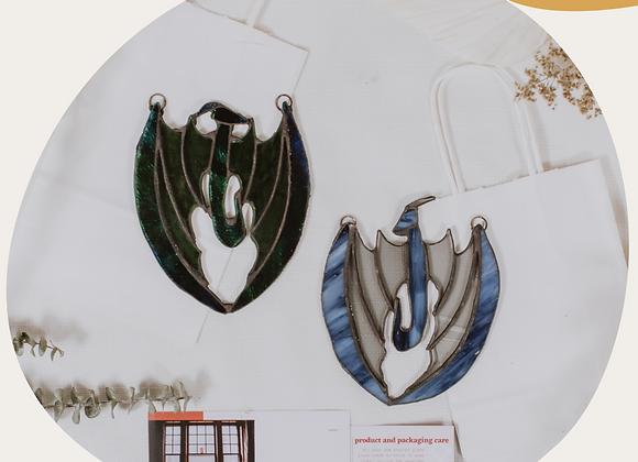 Stained Glass Dragon Keepsake