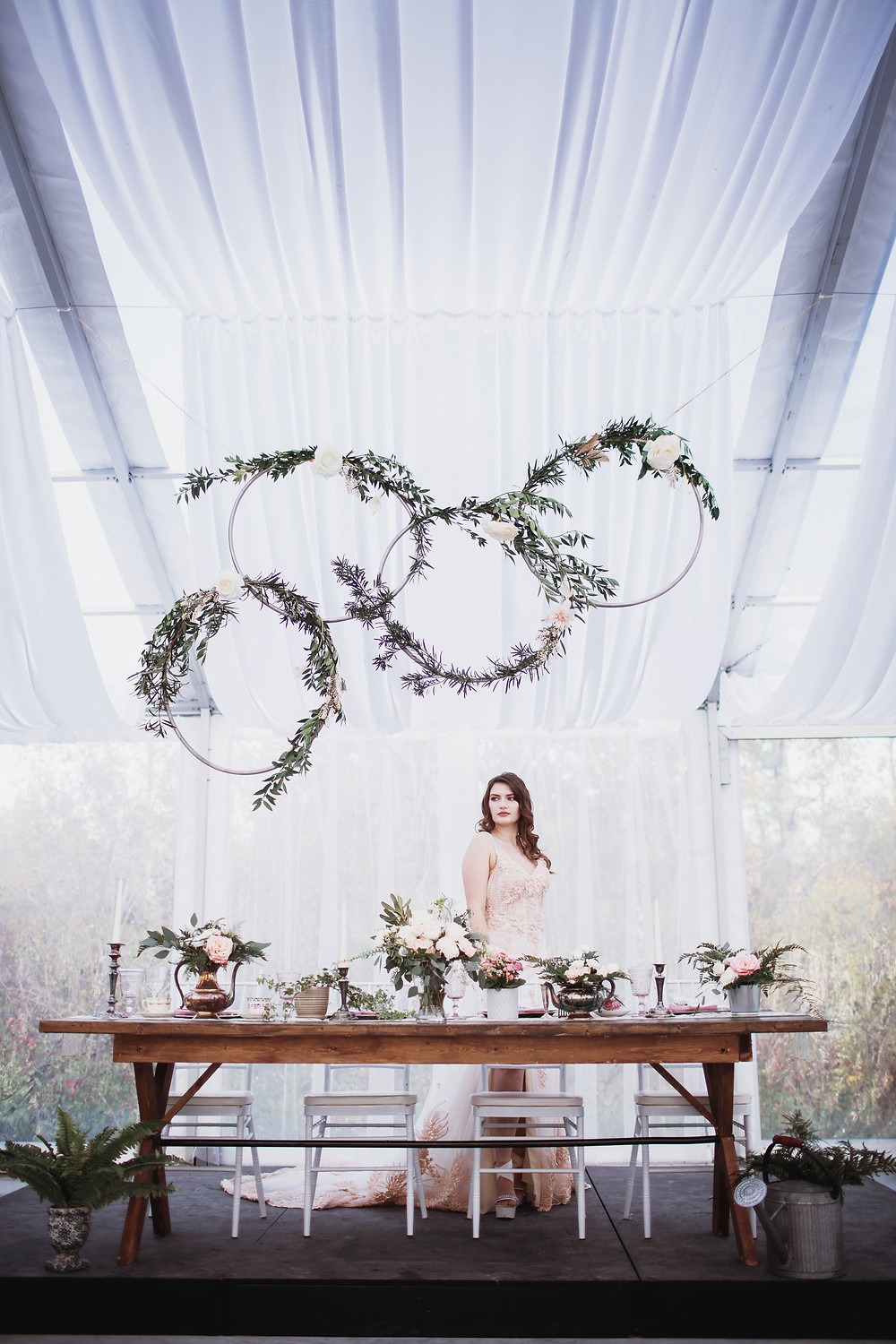Clear tent wedding reception inspiration, Canadian venue Kinloch Grove, Matlock, Manitoba.
