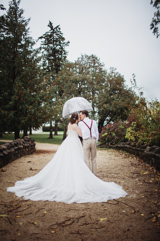 Rainy fall wedding inspiration.