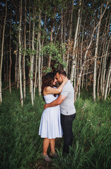 Couple Poses by Forest