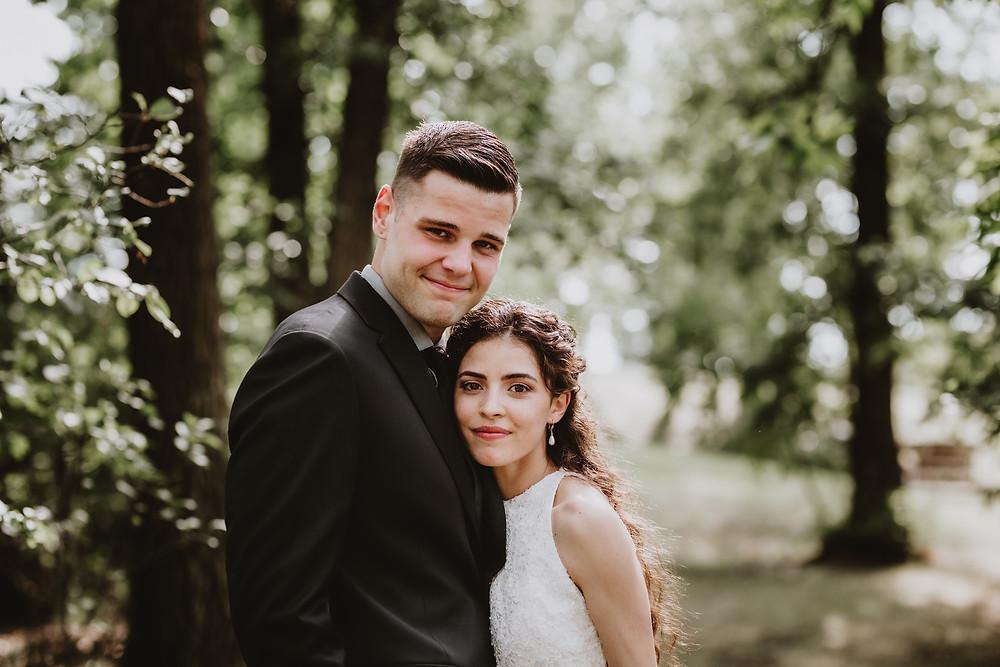 Wedding couple portrait.