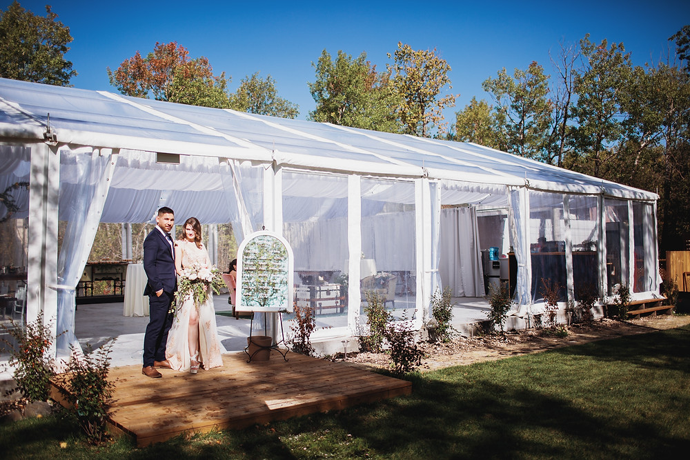 Open air wedding venue in Matlock, Manitoba