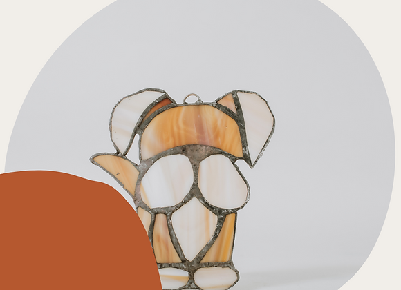 Stained Glass Puppy Ornament