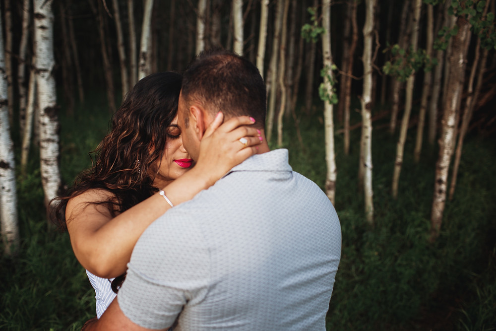 Winnipeg couple gets engaged - Assiniboine Forest engagement session.