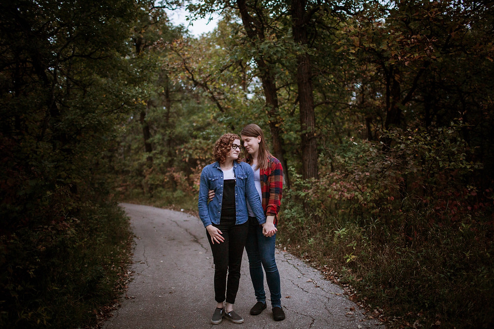 Forest engagement session in Winnipeg, Manitoba.