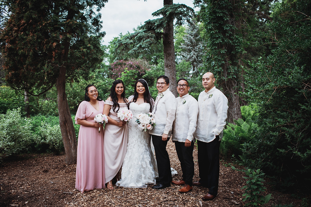 Filipino bridal party in Winnipeg, Manitoba.