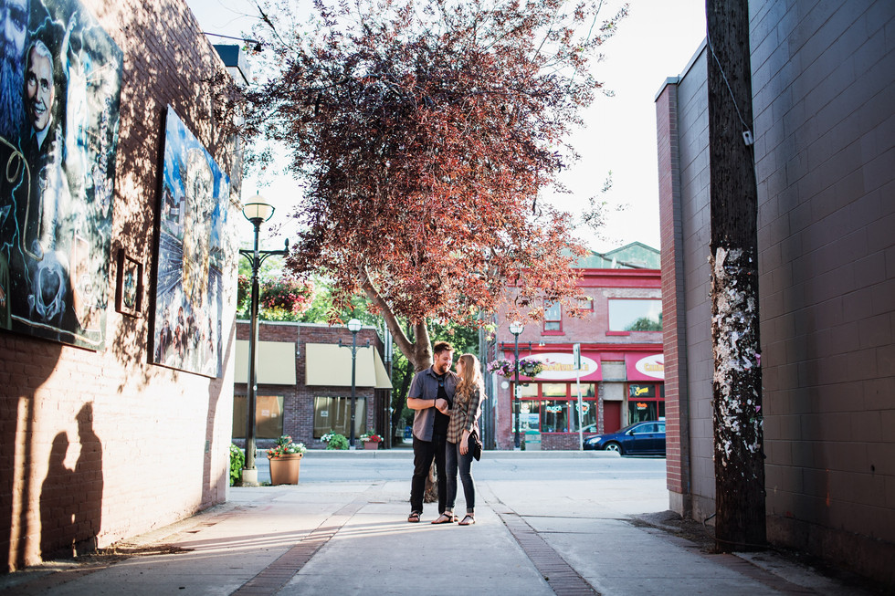 Osborne Village Sunset Engagement Session