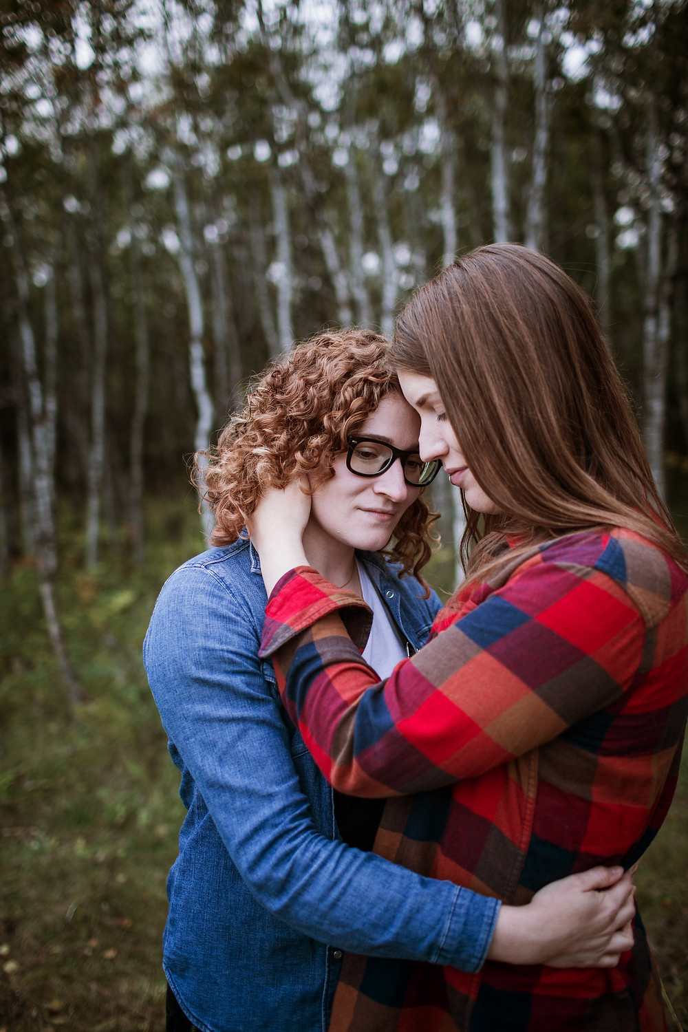 Forest engagement photo session in Winnipeg, Manitoba.