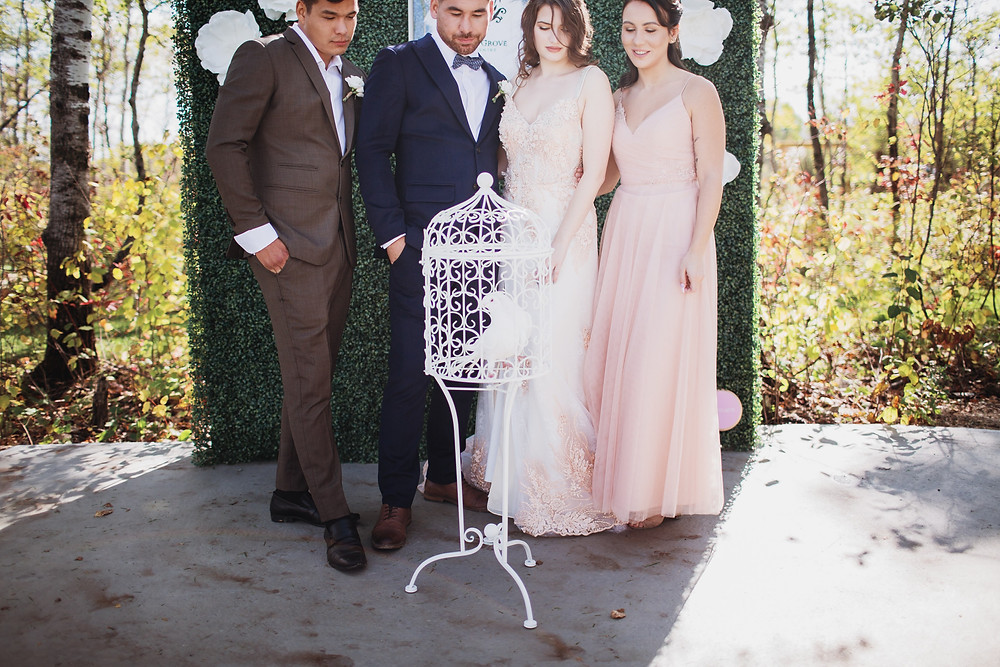 Doves by Interlake Doves. Wedding exit inspiration.